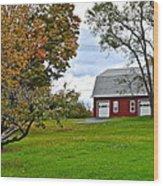 New York Farm Wood Print