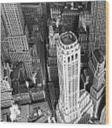 New York Financial District  Wood Print