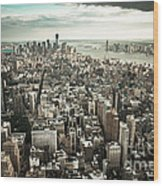 New York From Above - Vintage Wood Print