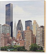 New York From Roosevelt Island Wood Print