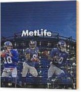 New York Giants Metlife Stadium Wood Print