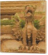 New York Gryphon Wood Print