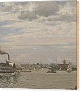 New York Harbor From Bedloe's Island Wood Print