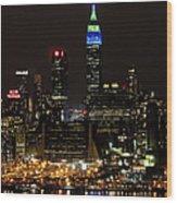 New York Honors Seattle Seahawks Wood Print