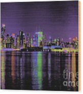 New York In Color Wood Print