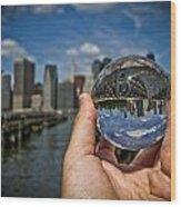 New York In My Hand - Sferic Manhattan II Wood Print