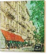 New York In The Forties Wood Print