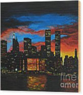 New York In The Glory Days Wood Print
