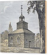 New York: Jamaica Church Wood Print