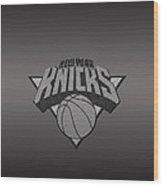 New York Knicks Wood Print by Paulo Goncalves