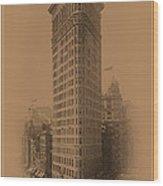New York Landmarks 3 Wood Print