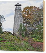 New York Lighthouse Wood Print