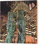 New York - Looking Toward The Avenue Wood Print