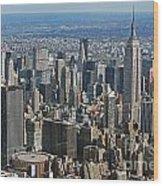 New York Manhattan Areal View  Wood Print by Lars Ruecker