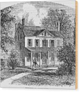 New York: Mansion, 1763 Wood Print