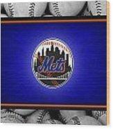 New York Mets Wood Print by Joe Hamilton