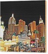 New York New York Hotel And Casino Wood Print