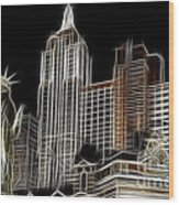 New York New York In Las Vegas Wood Print