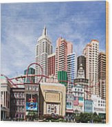New York New York Las Vegas Wood Print