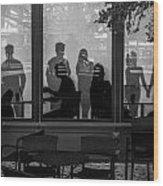 New York New York Shoppers Wood Print