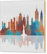 New York New York Skyline  Wood Print