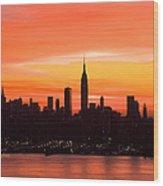 New York November Dawn Wood Print