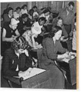 New York Police Exam, 1947 Wood Print