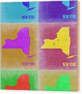 New York Pop Art  Map 3 Wood Print