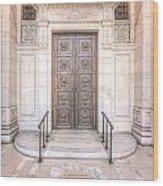 New York Public Library Entrance I Wood Print