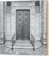 New York Public Library Entrance II Wood Print