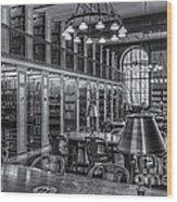 New York Public Library Genealogy Room II Wood Print