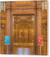 New York Public Library Main Reading Room Entrance I Wood Print