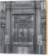 New York Public Library Main Reading Room Entrance II Wood Print