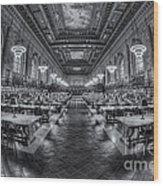 New York Public Library Main Reading Room Viii Wood Print