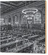 New York Public Library Main Reading Room X Wood Print