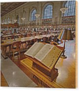 New York Public Library Rose Main Reading Room  Wood Print