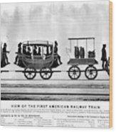 New York Railroad, 1832 Wood Print
