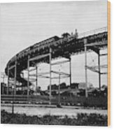 New York Railroad Bridge Wood Print