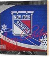New York Rangers Christmas Wood Print