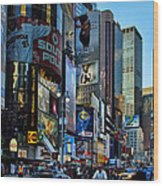 New York Rush Hour Wood Print