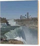 New York Side Of Niagara Falls Wood Print