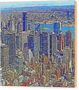 New York Skyline 20130430v3 Wood Print