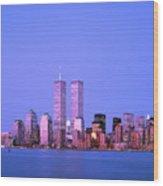 New York Skyline Before 11th September Wood Print