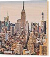 New York Skyline Panorama Wood Print