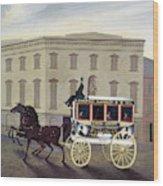 New York Stagecoach Wood Print
