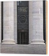 New York State Education Building Entrance Wood Print