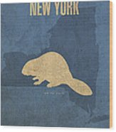 New York State Facts Minimalist Movie Poster Art  Wood Print