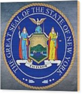 New York State Seal Wood Print