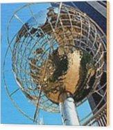 New York Steel Globe Wood Print
