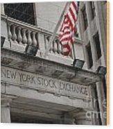 New York Stock Exchange Building Wood Print